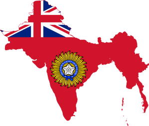 "British Raj (rāj, lit. ""rule"" in Hindi) or British India, officially the British Indian Empire, and internationally and contemporaneously, India, is the term used synonymously for the region, the rule, and the period, from 1858 to 1947, of the British Empire on the Indian subcontinent."
