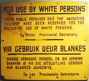 "Apartheid (Afrikaans pronunciation: [ɐˈpartɦɛit]; an Afrikaans word meaning ""the state of being apart"", literally ""apart-hood"") was a system of racial segregation in South Africa enforced through legislation by the National Party (NP), the governing party from 1948 to 1994."