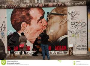 Perhaps Banksy might paint a similar theme on the Apartheid Wall.